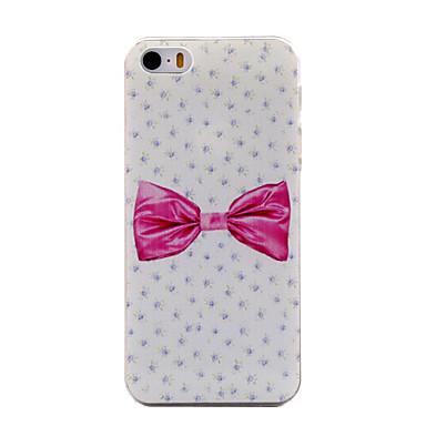 Caso Duro Sfondo Rosa Nodo A Farfalla Modello Antigraffio Opaca Pc Per Iphone 5 5s