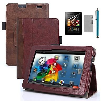 coco fun® tamno smeđa oblikovanje knjige pu kožnu torbicu s zaslon zaštitnik i stylus za 7