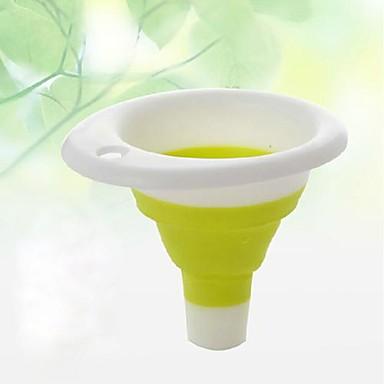 Pliabil pliabil scalabil silicon pâlnia de scurgere de scurgere de apă de scurgere container de infuzie de culoare aleatoare