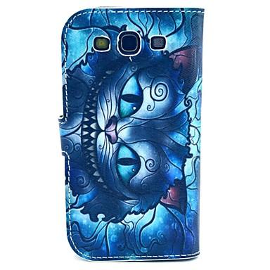 Для Кейс для  Samsung Galaxy Чехлы панели со стендом Флип С узором Чехол Кейс для Кот Искусственная кожа для Samsung S3