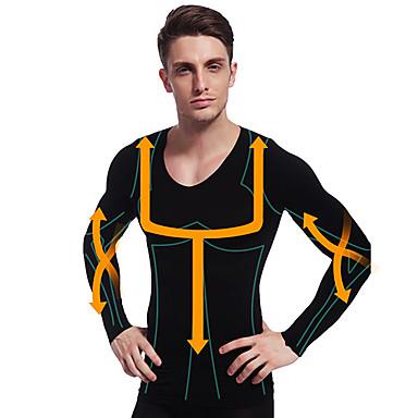 om slăbire camasa lenjerie de corp termică maneca lunga formator de corp burtica firmă burta bust nylon ny102 negru