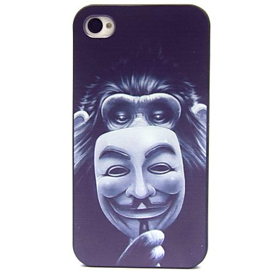 The Monkey Masks Pattern Hard Case for iPhone 4/4S