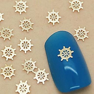Sevimli tırnak sanatı Manikür pedikür Metal Çiçek / Soyut / Klasik Günlük / Karikatür / Nail Jewelry