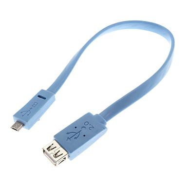0,25 M 0.82ft USB2.0 de sex feminin pentru micro USB 2.0 de sex masculin cablu OTG