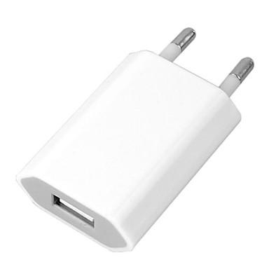 alb compact 2 pini USB european încărcător de perete 100 - 240V eu adaptor de alimentare pentru turiști