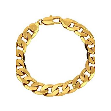 Erkek Figaro Zinciri Zincir & Halka Bileklikler - Altın Kaplama Klasik Bilezikler Altın Uyumluluk Parti Günlük