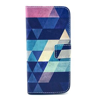 coco fun® μπλε μοτίβο παζλ pu δερμάτινη θήκη με protecter οθόνης, βάση και γραφίδα για το iPhone 6s συν / 6 συν
