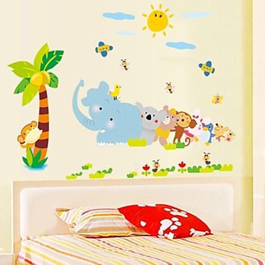 doudouwo® decalques da parede adesivos de parede, animais meus Mundo Animal pvc adesivos de parede
