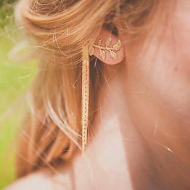 Σκουλαρίκι Leaf Shape Χειροπέδες Ear Κοσμήματα Πάρτι / Causal Κράμα Χρυσαφί