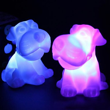 Coway on iki zodyak koyun renkli led gece lambası