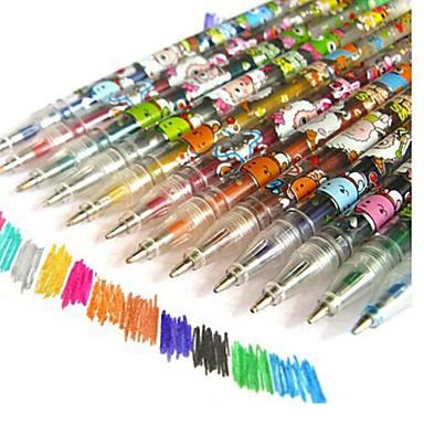 Marker & İşaret Kalemi Kalem İşaret Kalemleri Kalem, Plastik Kırmızı Siyah Mavi Sarı Turuncu Yeşil mürekkep Renkleri For Okul malzemeleri