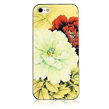 Pentru Carcasă iPhone 5 Carcase Huse Model Carcasă Spate Maska Floare Greu PC pentru iPhone SE/5s iPhone 5