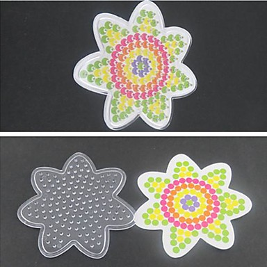 1pcs sjabloon duidelijke pegboard bloem voor 5mm hama kralen zekering kralen