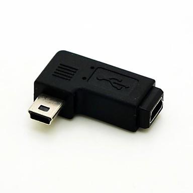 links hoek van 90 graden mini usb male naar mini usb vrouwelijke uitbreiding adapter conventer snoer kabel connector gratis verzending