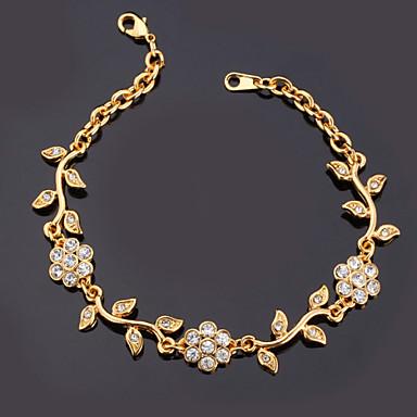 9a91cb45e9eb Mujer Diamante sintético Cadenas y esclavas Brazalete Brillante Chapado en  Plata Chapado en Oro damas Moda
