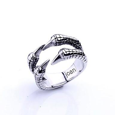 presente personalizado moda garras de águia em forma de jóias em aço inoxidável gravado anel dos homens