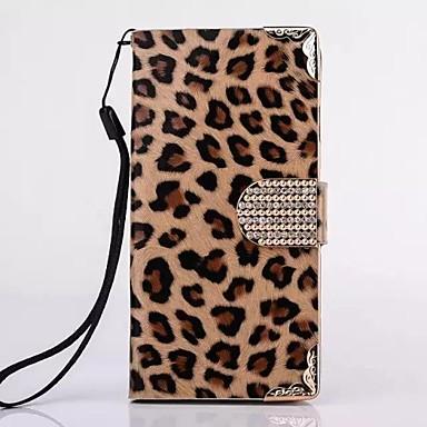 hhmm leopardo grãos pu couro para o iPhone 6 Plus caso 5.5 polegadas (cores sortidas)