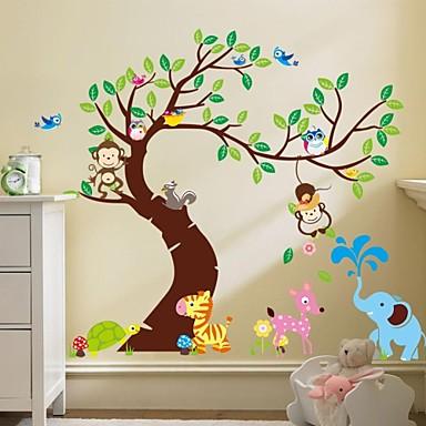 zooyoo® verwijderbare aap op de boom muurstickers hete verkopen muur stickers voor home decor