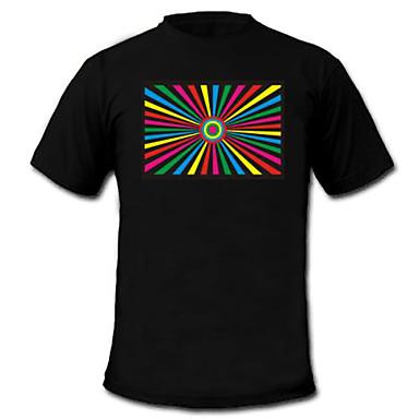 LED T-shirts 100% Katoen 2 AAA Batterijen