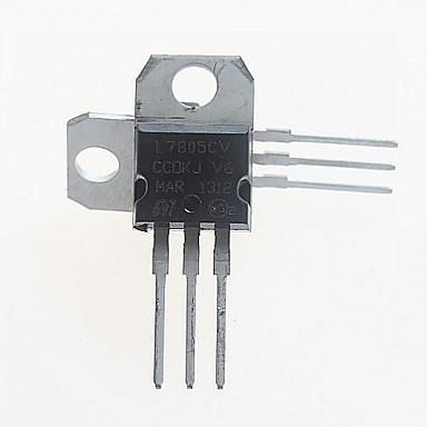 l7805cv 전압 레귤레이터 5V / 1.5A TO-220 (5PCS)