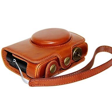 dengpin® 가죽 보호 카메라 케이스 가방 커버 라이카 c와 파나소닉 LF1을위한 핸드 스트랩으로 스타일을 충전