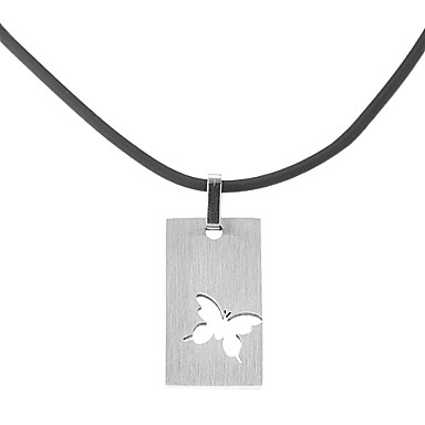 Uçlu Kolyeler - Paslanmaz Çelik, Deri Gümüş Kolyeler Mücevher Uyumluluk Parti, Günlük