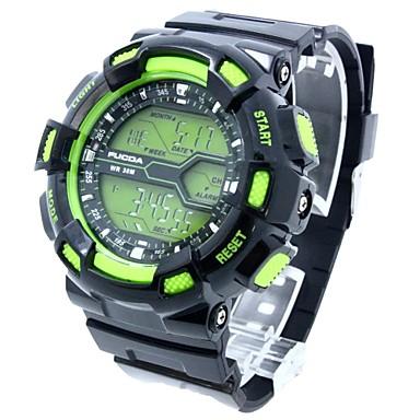 Χαμηλού Κόστους Ανδρικά ρολόγια-Ανδρικά Αθλητικό Ρολόι Ημερολόγιο Χρονογράφος Ψηφιακό Μαύρο / Πράσινο Μαύρο και Μπλε Μαύρο / Πορτοκαλί