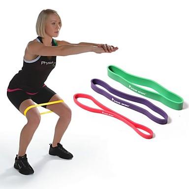 mor% 100 doğal lateks direnç bandı döngü spor egzersiz pilates yoga egzersiz boru RYG ™ kylin spor