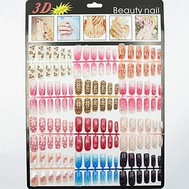 144pcs Plastic Pentru deget Încântător nail art pedichiura si manichiura Abstract / Clasic / Desen animat Zilnic