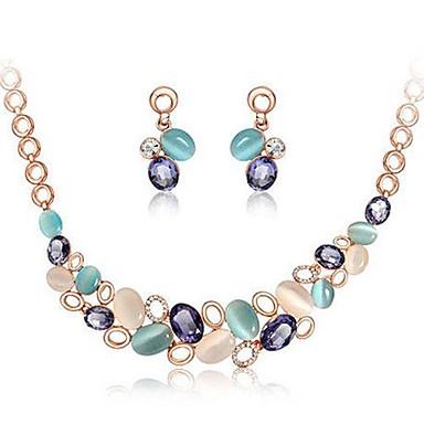 Conjunto de jóias Brincos / Colares - Europeu Arco-Íris Conjunto de Jóias Para Casamento / Festa / Aniversário