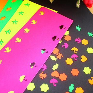 5 αυτοκόλλητα χρώμα του χαρτιού για διάτρηση (5 τεμ)