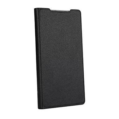 Capinha Para Sony Capinha Sony Com Suporte Flip Corpo Inteiro Côr Sólida Rígida Couro Ecológico para Sony Xperia Z2