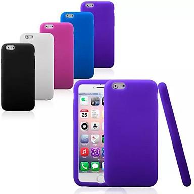 Capinha Para Apple iPhone 6 iPhone 6 Plus Antichoque Capa traseira Côr Sólida Macia Silicone para