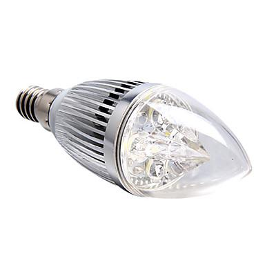 E14 Becuri LED Lumânare 4 led-uri LED Putere Mare Intensitate Luminoasă Reglabilă Alb Natural 360lm 5500-6000K AC 220-240V