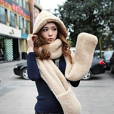 Women's Fashion Winter Warm Thickening Knitting Hat Suit