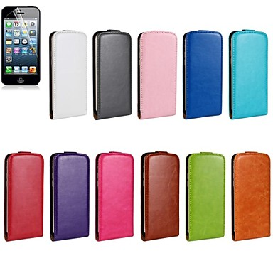 Capinha Para Apple iPhone 6 iPhone 6 Plus Flip Capa Proteção Completa Côr Sólida Rígida PU Leather para iPhone 6s Plus iPhone 6s iPhone 6