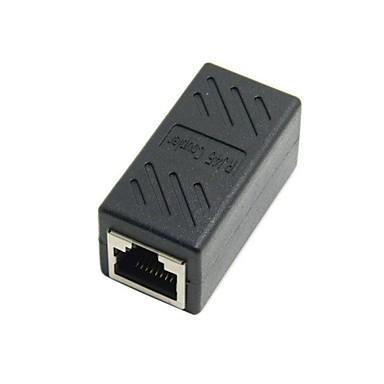 billige Kabler og adaptere-CAT6 RJ45 kvindelige til kvindelige lan stik Ethernet-netværkskabel udvidelse adapter med skjold