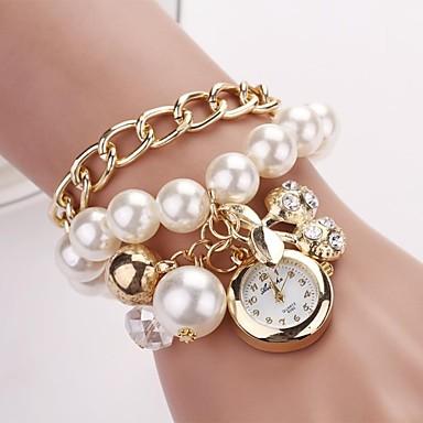 Pentru femei Ceas La Modă Ceas Brățară Quartz Aliaj Bandă Perle