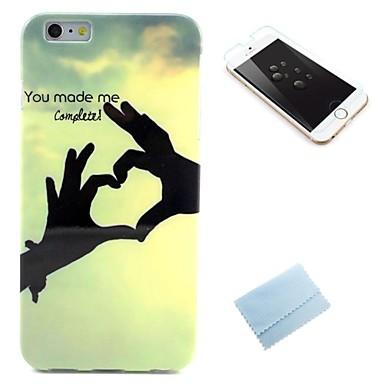model dragoste TPU husă moale din spate cu un film pentru iphone6s plus / 6, plus