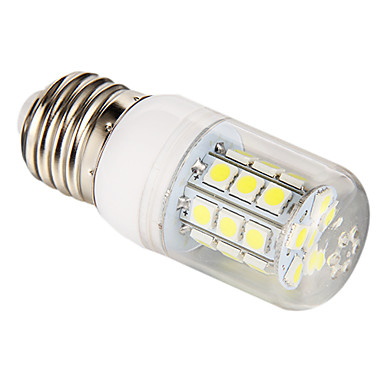 E26/E27 LED-maïslampen T 27 leds SMD 5050 Natuurlijk wit 270lm 6000-6500K AC 85-265V