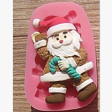 Χριστούγεννα Βασίλης δεκανίκια κέικ φοντάν εργαλεία διακόσμηση κέικ σοκολάτας μούχλα σιλικόνης, l7.8cm * w5cm * h1.7cm