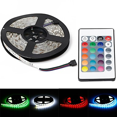 waterdichte 72W 5000LM 625nm 300-smd 5050 rgb led decoratie licht strip w / eu plug (5m)