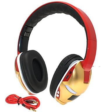 hi-fi slot pentru card de om de fier de 3,5 mm tf bas pliabil muzica stereo pentru căști fără fir Bluetooth cu microfon tf fm aux