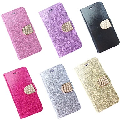 Voor iPhone 6 hoesje / iPhone 6 Plus hoesje Kaarthouder / met standaard / Flip hoesje Volledige behuizing hoesje Glitterglans Hard PU-leer