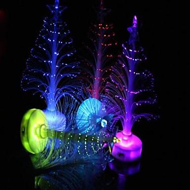 カラフルな光ファイバーナイトライトの装飾ライトランプミニクリスマスツリー