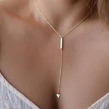 olcso Divat nyaklánc-Nyaklánc medálok Y nyaklánc Európai minimalista stílusú Aranyozott Nyakláncok Ékszerek Kompatibilitás Parti Napi Hétköznapi