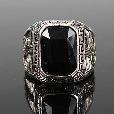 Statement Ring Zwart Rood Groen Blauw Hars Legering Feest Dagelijks Causaal Kostuum juwelen