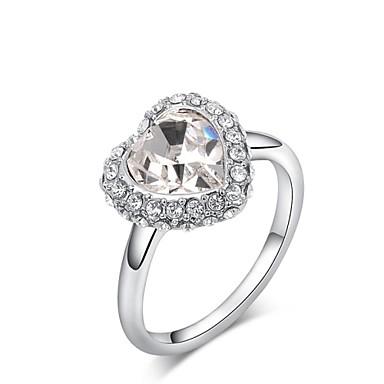 Dames Kristal / Verguld Statement Ring - Hart Ring Voor Bruiloft / Feest / Dagelijks