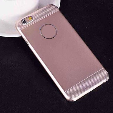 2 em 1 gel de sílica combinada escovado tampa de metal para iphone 6 (cores sortidas)