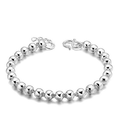 Kadın's Zincir & Halka Bileklikler - Som Gümüş, Gümüş Kaplama Vintage, Parti, İş Bilezikler Gümüş Uyumluluk Yılbaşı Hediyeleri / Düğün / Parti